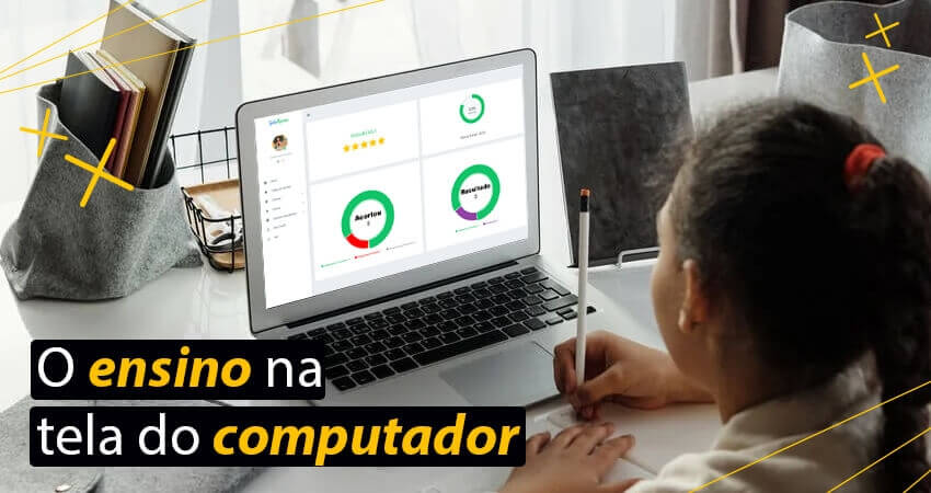 O ensino na tela do computador